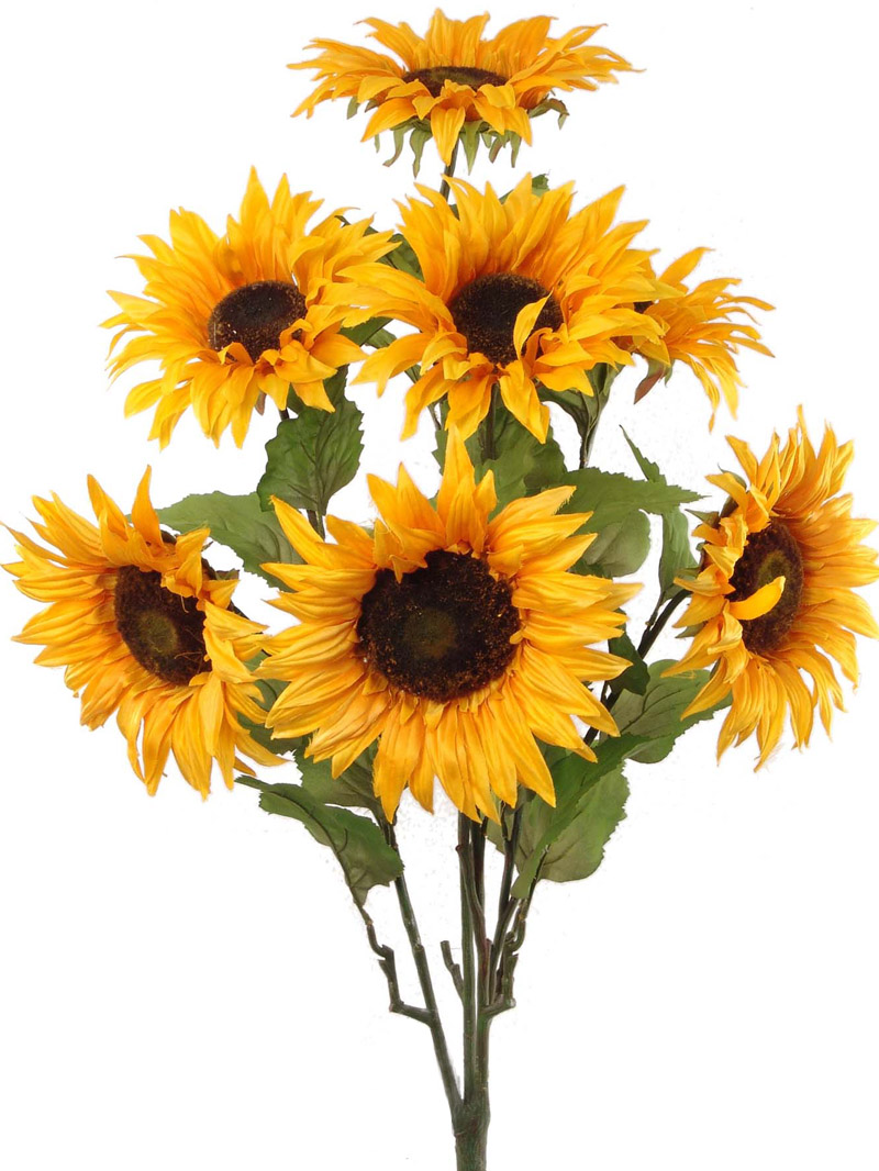 "30"" SUNFLOWER BUSH X 7 - GD/YL"