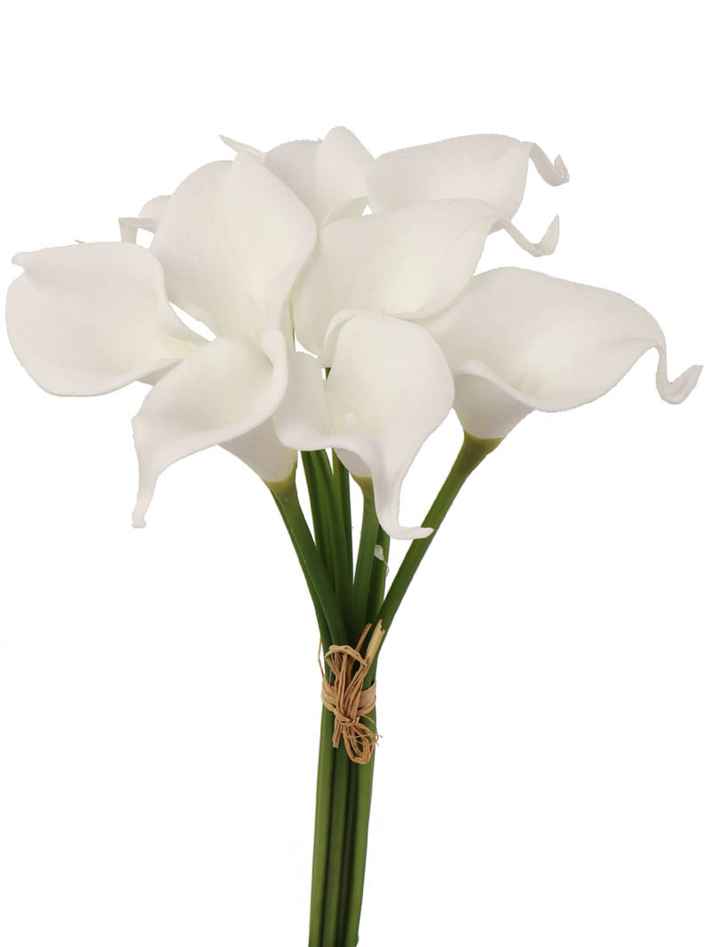 "14"" REAL TOUCH CALLA LILY BUNDLE 9 FLOWERS"