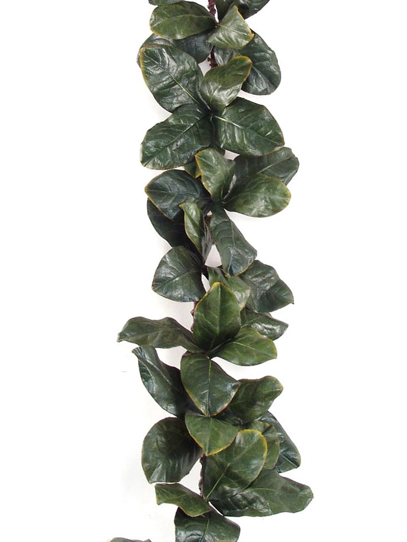 6' MAGNOLIA LEAF GARLAND - GREEN