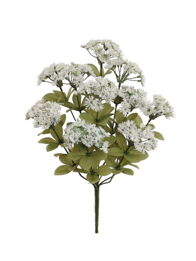 "17""QUEEN ANNE'S LACE BUSH X11 - WHITE"