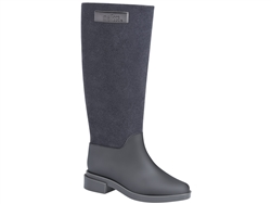 Grey Long Boot Flocked