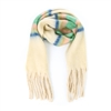 Light Colors Long Fringe Beige Scarf