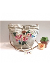 Embroidered Paradise Bag