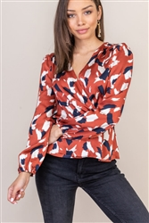 Shirred Detail Collared Blouse