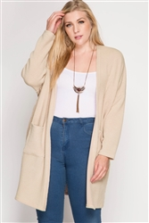 Lite Taupe Long Cardigan