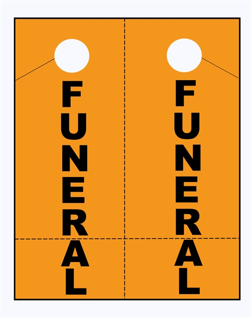 FUNERAL Procession Tags