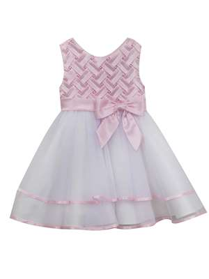 Pink Basket Weave To Mesh Skirt,Rare Editions,Baby Girls (12-24M)