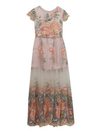 f71009db058 Blush Floral Embroidery Maxi Romper
