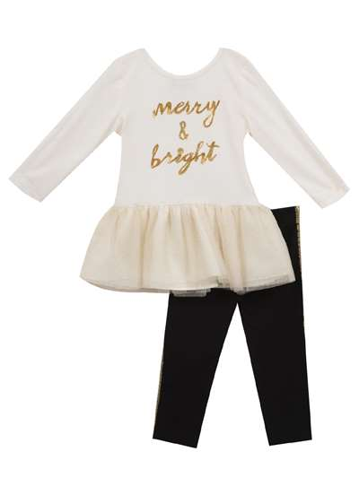 Merry & Bright Ivory Tutu Set, Rare Editions, Little Girls (4-6X)