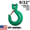 "9/32"" Grade 100 Clevis Sling Hook with Latch"