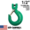 "1/2"" Grade 100 Clevis Sling Hook with Latch"