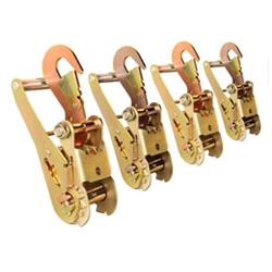 Four Short Handle Ratchets with Snap/Latch Finger Hooks