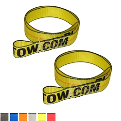 "Two 2""x8' Lasso Straps with Sewn Loops 