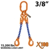 "3/8"" X100 ADOS Grade 100 Chain Sling"