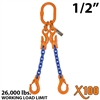 "1/2"" X100 ADOS Grade 100 Chain Sling"