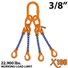 3/8 inches X100 AQOS Grade 100 Chain Sling