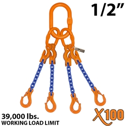 1/2 inches X100 AQOS Grade 100 Chain Sling