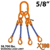 5/8 inches X100 AQOS Grade 100 Chain Sling