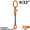 9/32 inches X100 ASOS Grade 100 Chain Sling