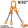 9/32 inches X100 ATOS Grade 100 Chain Sling