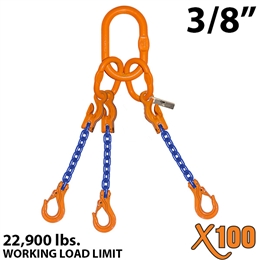 3/8 inch X100 ATOS Grade 100 Chain Sling