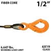 1/2 Inch Fiber Core Winch Line with Fixed Eye Self Locking Hook