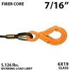 7/16 Inches Fiber Core Winch Line with Fixed Eye Self Locking Hook