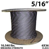 5/16 Inch Coil Domestic Bulk Wire Rope BIWRC 6X37