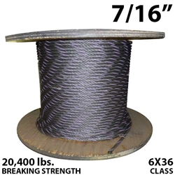 "7/16"" Coil Domestic Bulk Wire Rope BIWRC 6X37"