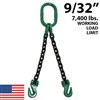 9/32 Inch Grade 100 DOG Chain Sling - USA