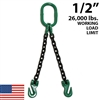 1/2 Inch Grade 100 DOG Chain Sling - USA