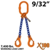 9/32 Inches X100 DOS Grade 100 Chain Sling
