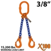 3/8 Inch X100 DOS Grade 100 Chain Sling