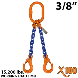 "3/8"" X100 DOS Grade 100 Chain Sling"