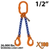 1/2 Inch X100 DOS Grade 100 Chain Sling