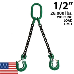 1/2 Inch Grade 100 DOS Chain Sling - USA