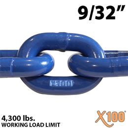9/32 inch X100 Grade 100 Lifting Chain