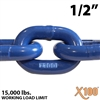 1/2 inch X100 Grade 100 Lifting Chain