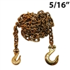 "5/16"" Grade 70 Transport Binder Chain with Grab Hook and Slip Hook"