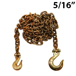 5/16 Inch Grade 70 Transport Binder Chain with Grab Hook and Slip Hook