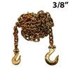 "3/8"" Grade 70 Transport Binder Chain with Grab Hook and Slip Hook"