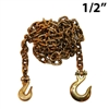 1/2 Inch Grade 70 Transport Binder Chain with Grab Hook and Slip Hook
