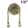 1/2 Inch Grade 70 Transport Binder Chain with Grab Hooks