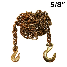 "5/8"" Grade 70 Transport Binder Chain with Grab Hook and Slip Hook"