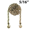 "5/16"" Grade 70 Transport Binder Chain with Grab Hooks"