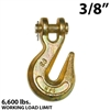 3/8 Inch Grade 70 Clevis Grab Hooks