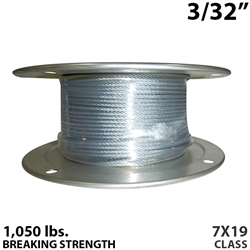"3/32"" 7x19 Galvanized Aircraft Cable"