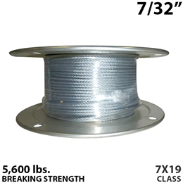 "7/32"" 7x19 Galvanized Aircraft Cable"