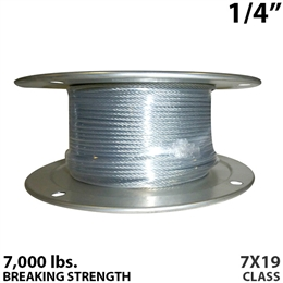 "1/4"" 7x19 Galvanized Aircraft Cable"