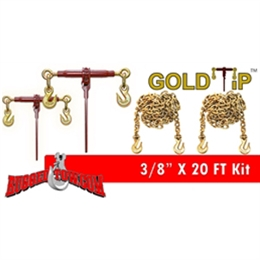 "3/8"" x 20FT Gold-Tip Binders & Binder Chains Kit"